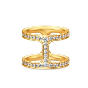 JULIE SANDLAU LINEA DOUBLE RING