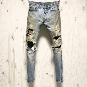 """Destroy"" Levi's 501 selvage crash&riri zip custom w31"