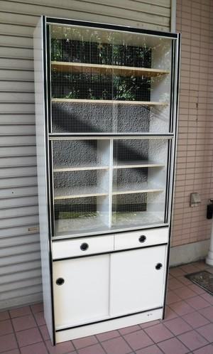 レトロな食器棚【白/75】(1216101YD)