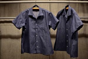 INDIVIDUALIZED SHIRTS ヴィンテージデニム オープンカラーシャツ半袖