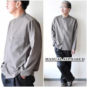 MANUAL   MANUALALPHABET マニュアルアルファベット バンドカラーシャツ MAS526