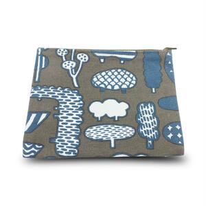 【炭酸デザイン室】高島帆布 おでかけポーチ