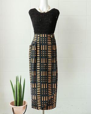 ethnic print warrped skirt