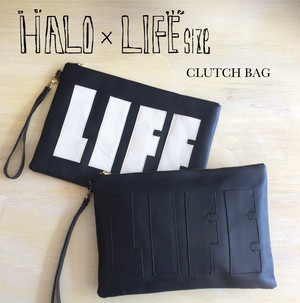 【HALO × LIFEsize】LEATHER CLUTCH BAG 2015