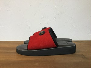 "ptarmigan""SUEDE SANDAL RED/BLACK"