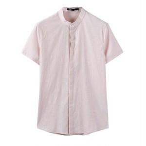 送料無料ビジネスオフィスカジュアルにも○ボトルネック半袖ワイシャツ