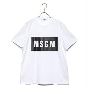 MSGM エムエスジーエム Tシャツ BOX LOGO T-SHIRT 2640MM67 メンズ レディース