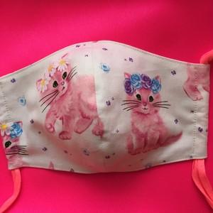 レディースファッションマスク  花と子猫ちゃん   2