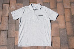 logo polo shirt / gray