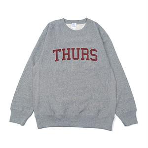 THURSDAY - COLLEGE LOGO CREWNECK (Grey)