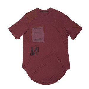637CPM24-BORDEAUX / パッチT-シャツ ver.2