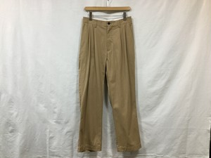 "UNIVERSAL PRODUCTS.""2TUCK WIDE CHINO PANTS BEIGE"""