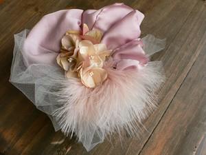 布花×チュール・2weyヘッドドレス(pink lavandula)