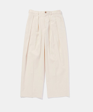 POLYPLOID WIDE TAPERED PANTS A OFF WHITE