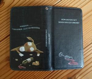アンドロイドスマホ対応 手帳型ケース『酔っ払いロバ』