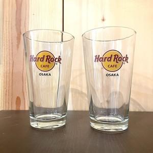 ハードロックカフェ タンブラー2個セット タンブラー大 ダイジョッキ ビールグラス 中古 おしゃれなグラス hard rock cafe