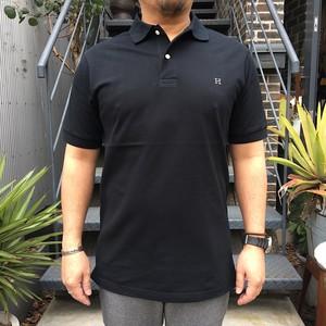 HRM H エンブロイダリー GIZAカノコポロシャツ BLACK