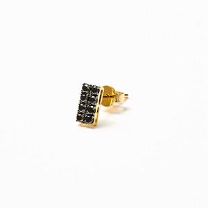 JG <W>ピアス(1P ) K9/ブラックダイヤモンド(1P)