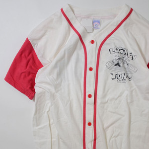 【XLサイズ】 LOONEY BASEBALLSHIRTS ルーニー テューンズ ベースボールシャツ WHT 400602190837
