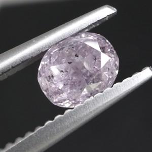 【天然ファンシーライトパープルピンクダイヤモンド 0.498ct】ソーティング付 (12/3掲載)