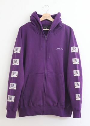 LONELY論理 GAME BOYZ ZIP HOODIE / PURPLE