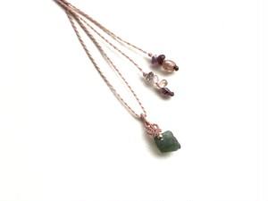 モルダバイト macrame necklace
