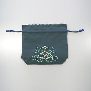 キンチャク(大)(緑) Bag(L)(green) 【さっぽろアイヌクラフト】