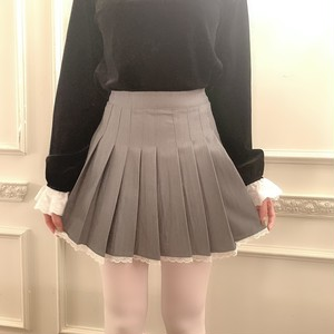 frill pleats skirt