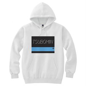 TSUBOMIN / COLOR BAR HOODED SWEATSHIRT #00ABEB