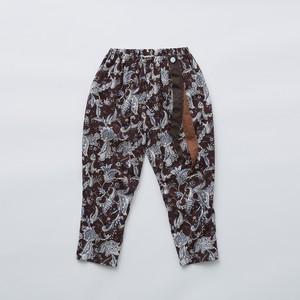 Last one 110!eLfinFolk Leaf paisley pants (burgundy) 110 120 130  elf-211F26 ※メール便1点までOK