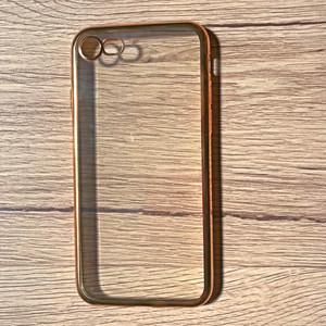 iPhoneケース 7用 TPUシンプル クリア×ゴールド