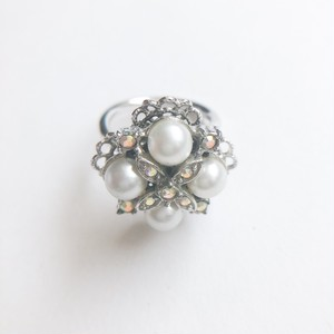 """Sarah Coventry"" pearl ring #10[r-101]"