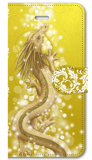 【iPhone5/5s/SE】豊かさの金龍 Golden Dragon of Abundance