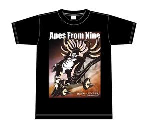 Apes From Nine オフィシャルTシャツ MEATAL TEE