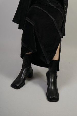 SWITCHING STRETCH SHORT BOOTS  (BLACK) 2108-13-19