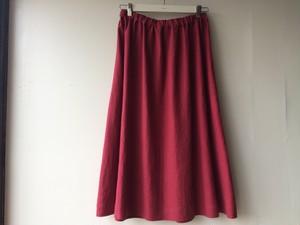リネンフレアスカート(赤)