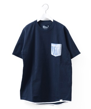 BANDANA POCKET T-SHIRT - NAVY