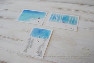 ポストカードサイズ パステル原画 3枚1組(冬シリーズ)