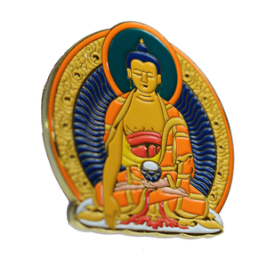 "Real Sic""Buddha Hat Pin – Large, Soft Enamel Pin"""