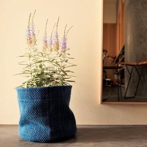 うしじま縫製 | 武州正藍染 鉢カバー【Lサイズ】 二重刺子