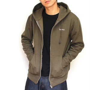 sweat zip parka KHAKI