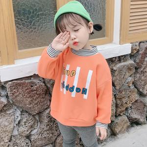 【トップス】大活躍 韓国風 女の子 おしゃれ 切り替え プリント 長袖 スウェット·パーカー24838155