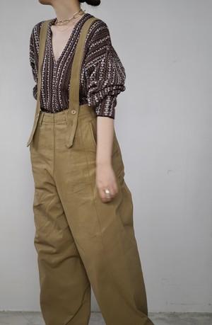 NOWOS /  suspender pants(beige)