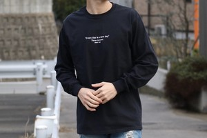 【2/12 21:00 販売開始】ThreeArrows Message L/S TEE(black)