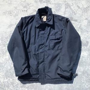 90's U.S.NAVY アラミドデッキジャケット ミリタリー ネイビー ステンシル入り 裏ボア 希少 size Large 42-44