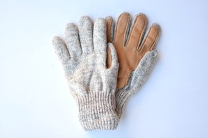 【NEW BERRY KNITTING】WOOL GLOVE - OATMEAL