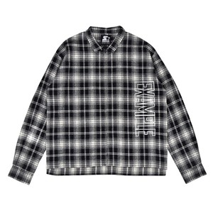 EXAMPLE x STARTER CHECK ZIP SHIRT / BLACK