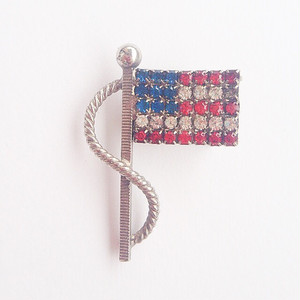 USA flag brooch[b-128]