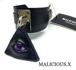eye  big choker / black × violet(silver)