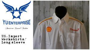 アメリカ輸入古着 ワークシャツ SHELLOIL(Wstar社製)☆アメカジ古着ファッション